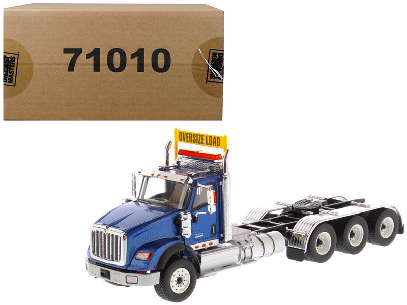 International HX620 Day Cab Tridem Tractor Blue 1/50 Diecast Model by Diecast Masters, Diecast Masters, Item Number 71010