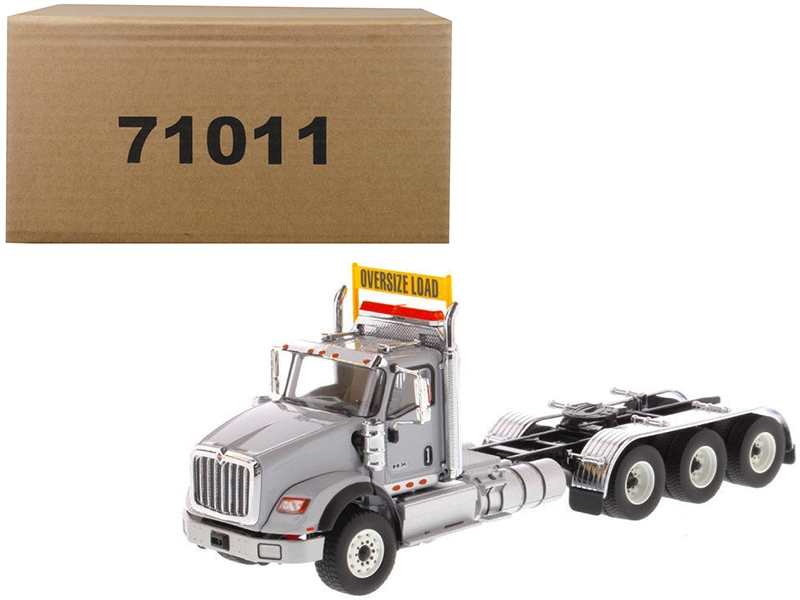 International HX620 Day Cab Tridem Tractor Light Grey 1/50 Diecast Model by Diecast Masters, Diecast Masters, Item Number 71011