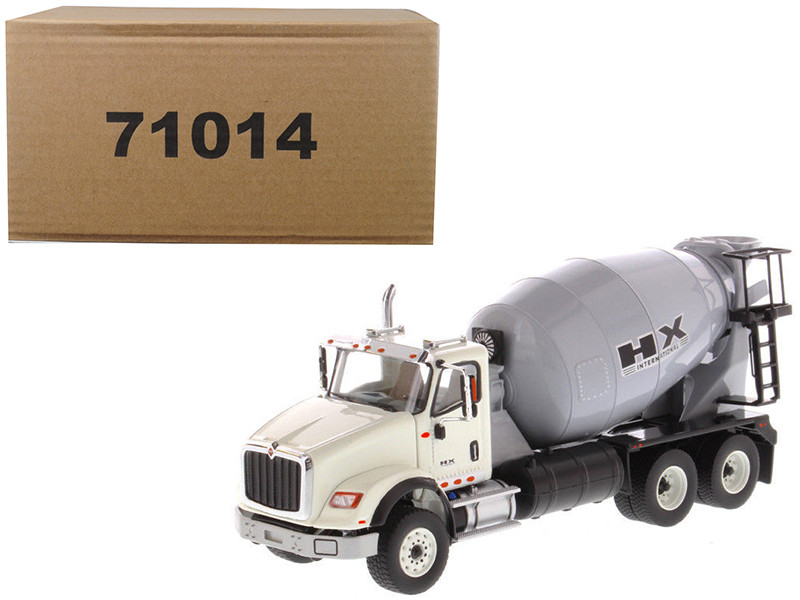 International HX615 Concrete Mixer White with Grey Mixer Drum 1/50 Diecast Model by Diecast Masters, Diecast Masters, Item Number 71014