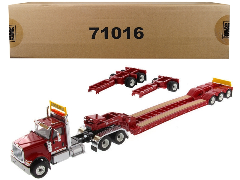 International HX520 Tandem Tractor Red with XL 120 Lowboy Trailer 1/50 Diecast Model by Diecast Masters, Diecast Masters, Item Number 71016