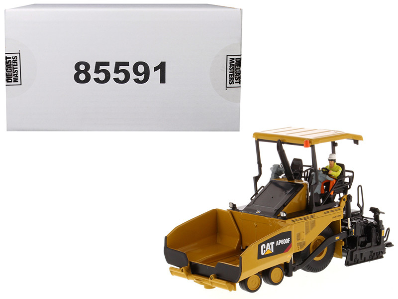 "CAT Caterpillar AP600F Wheeled Asphalt Paver with Operator ""High Line Series"" 1/50 Diecast Model by Diecast Masters, Diecast Masters, Item Number 85591"