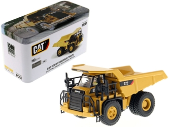 "CAT Caterpillar 772 Off-Highway Dump Truck with Operator ""High Line"" Series 1/87 by Diecast Masters Item number 85261"