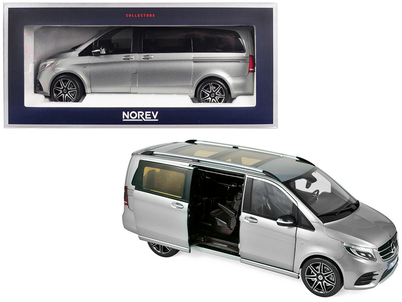 2018 Mercedes Benz V-Class AMG Line Van Gray Metallic 1/18 Diecast Model Car by Norev