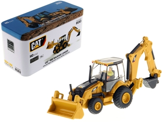 "CAT Caterpillar 450E Backhoe Loader with Operator ""High Line"" Series 1/87 (HO) Scale Diecast Model by Diecast Masters"