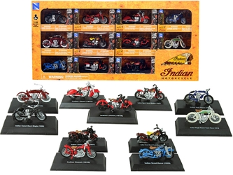 Indian Motorcycle Set of 11 pieces 1/32