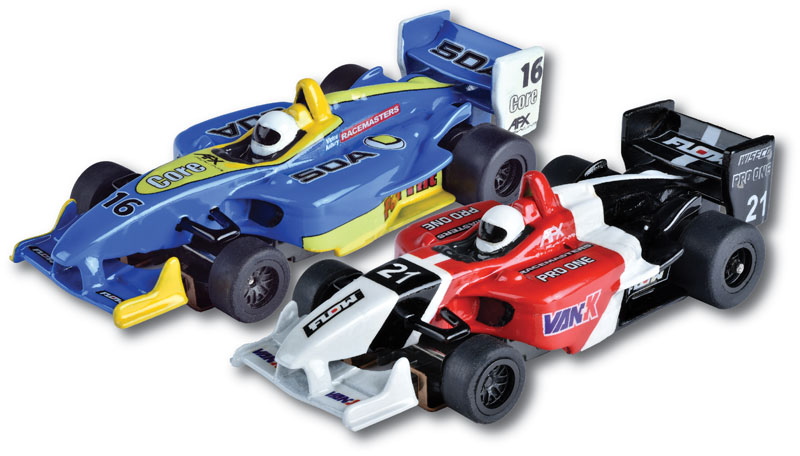 Two-Pack Formula Mg+ by AFX Slot Car Racing <p> Item Number: AFX22017
