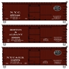 Ho 36' Dbl Sht Wood Boxcar 3# Set