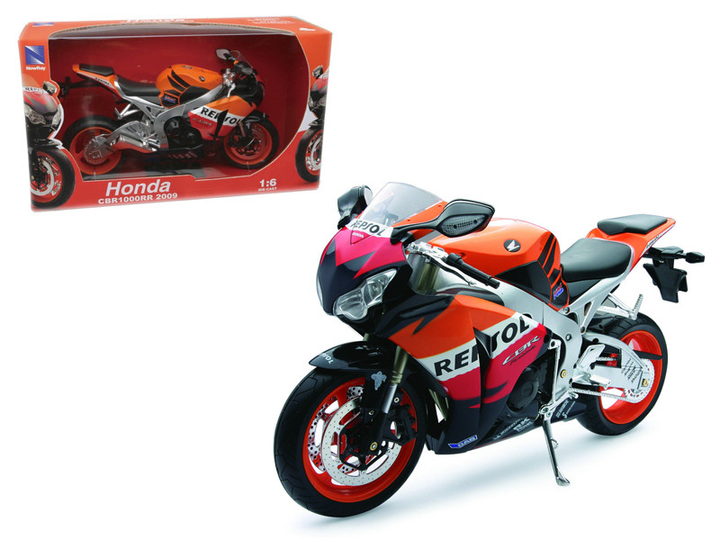 2009 Honda CBR1000RR Repsol Motorcycle 1/6 Diecast Model by New Ray, New Ray Item Number 49073