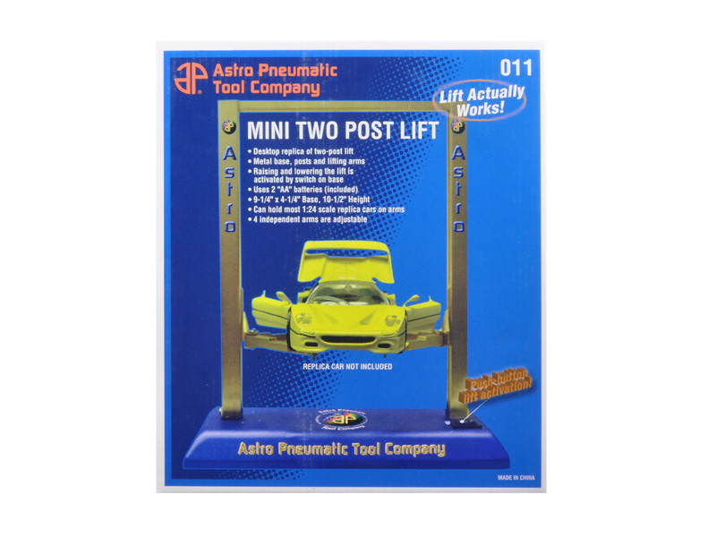 Mini Two Post Electric Metal Lift For 1/24 & 1/18 Scale Cars by APTC