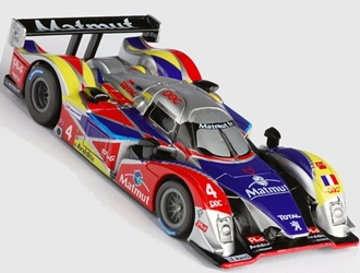 Mega G+ Peugeot 908 Oreca, AFX Slot Car Racing Item Number AFX21035