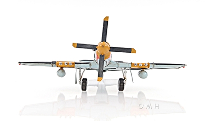 1943 Grey Mustang P51 1:40, Old Modern Handicrafts, Item Number AJ003