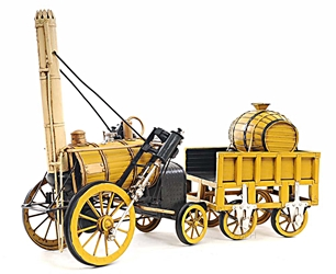 1829 Yellow Stephenson Rocket Steam Locomotive, Old Modern Handicrafts, Item Number AJ011