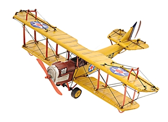 1918 Yellow Curtiss JN-4 1:24, Old Modern Handicrafts, Item Number AJ015