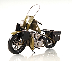 1942 Yellow Motorcycle 1:12, Old Modern Handicrafts, Item Number AJ025
