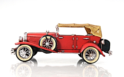 1933 Red Duesenberg J 1:12, Old Modern Handicrafts, Item Number AJ026