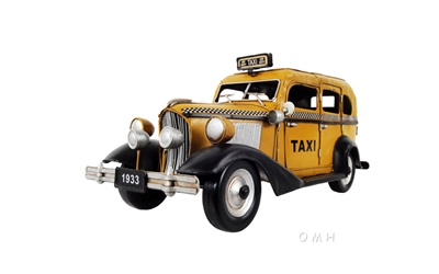 1933 Yellow F Taxi Model, Old Modern Handicrafts, Item Number AJ079