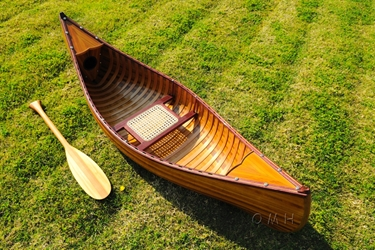 6 ft Wooden Canoe with ribs, Old Modern Handicrafts, Item Number K037