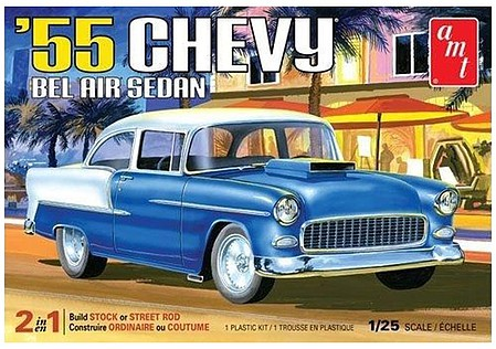 55 Chevy Bel Air Sedan, AMT Plastic Model Kits, Item Number AMT1119