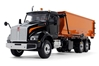 Kenworth T880S in Black with Tub-Style Roll-Off Container in Orange (1:34) by First Gear Item Number: FRG10-4144