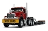 Mack Granite in Cherry Red with Tri-Axle Lowboy Trailer in Black (1:34) by First Gear Item Number: FRG10-4150