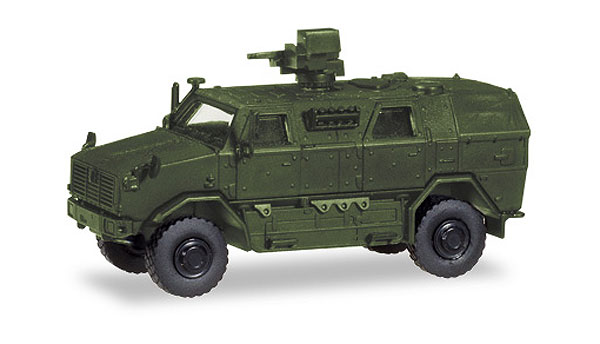 ATF Dingo mit FLW 100 Armored Infantry Mobile Vehicle 1:87 - undecorated high quality plastic by Herpa Military Vehicles Item Number HE746168