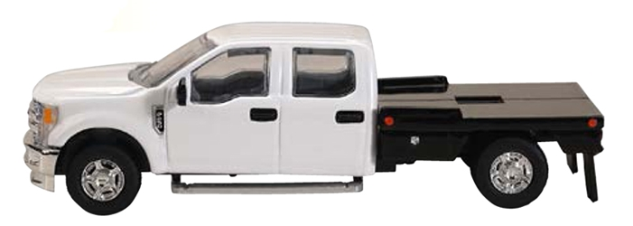 Ford F-250 Flatbed Pickup in White (1:64) by SPEC-CAST item number: 52602